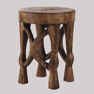 Tenzo Hand Carved Stool