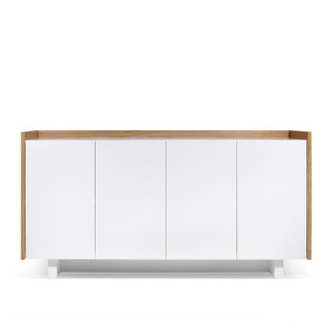 Skin Sideboard 63 x 18 x 32 H inches Oak Veneer, Lacquered Wood