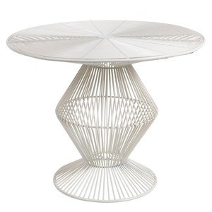 Thira Wire End Table - FIFE-106 23 x 23 x 18.5 H inches Metal White