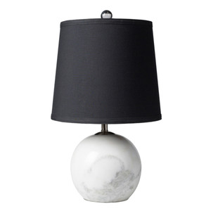 Sinclair Table Lamp - SIA-100 11 dia x 18.5 H inches Marble, Faux Silk
