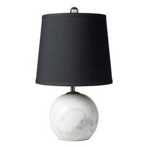 Sinclair Table Lamp - SIA-100 11 dia x 18.5 H inches Marble, Faux Silk
