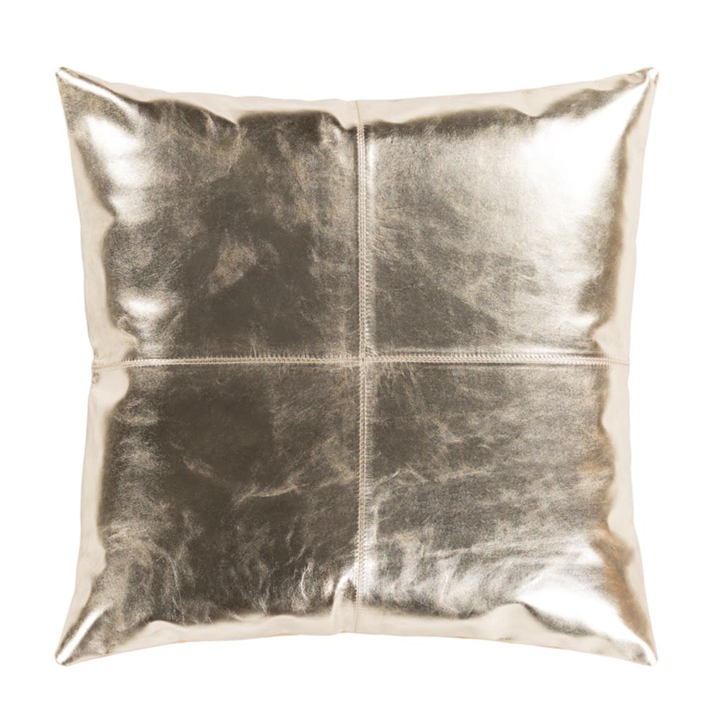 Champagne Leather Pillow - RTZ-001 18 x 18 inches