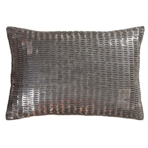 Ankara Pillow - ANK-001 13 x 19 inches Linen, Cotton Grey