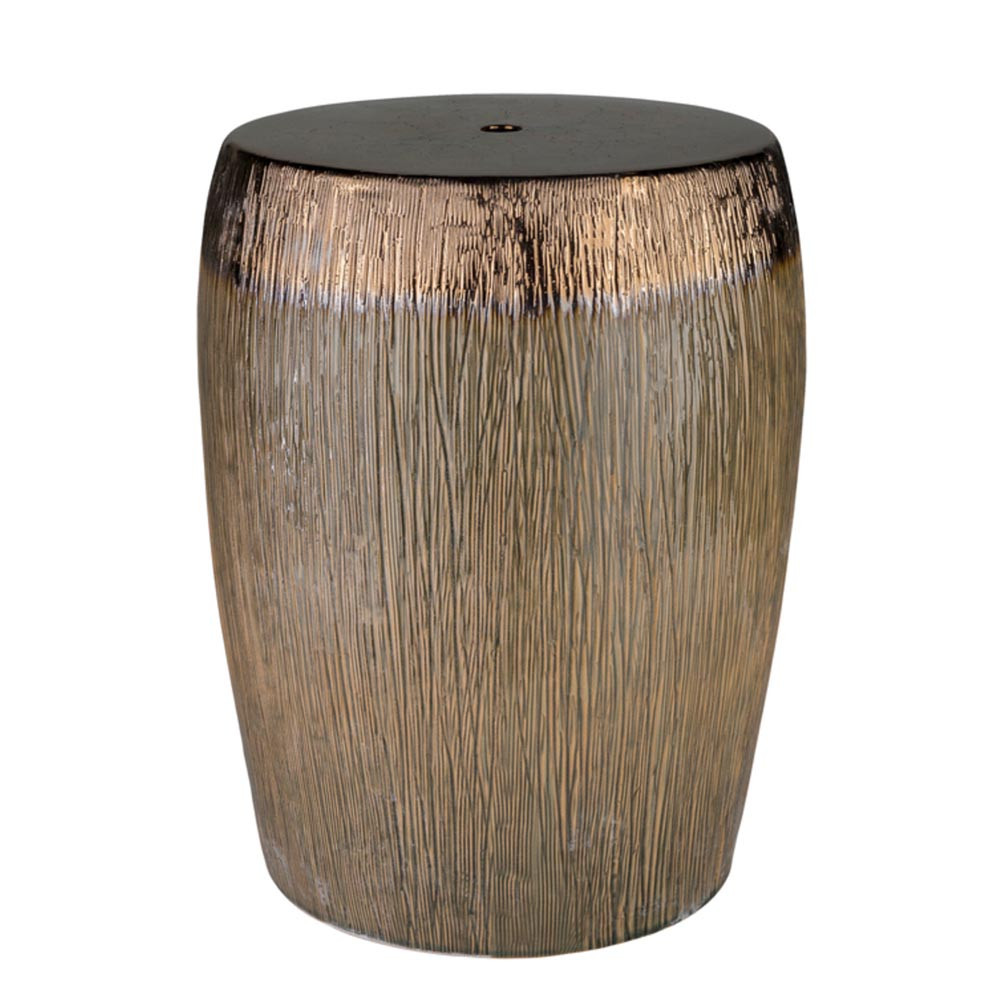 Amalie Ceramic Stool - AML-001 13 dia x 17.5 H inches Ceramic