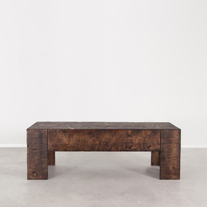 Galisteo Cocktail Table 60 x 24 x 20 H inches Dark Walnut Finish Oiled Topcoat