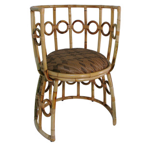 Julia Chair 27.5 x 26.5 x 33.5 H inches, Seat 17.75 H inches Rattan, Metal