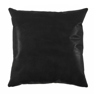 Black Leather Pillow 20 x 20 inches