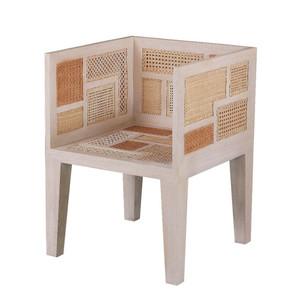 Basilisa Chair 23.75 x 23.75 x 32 H inches, Seat 17.25 H inches Mahogany, Rattan