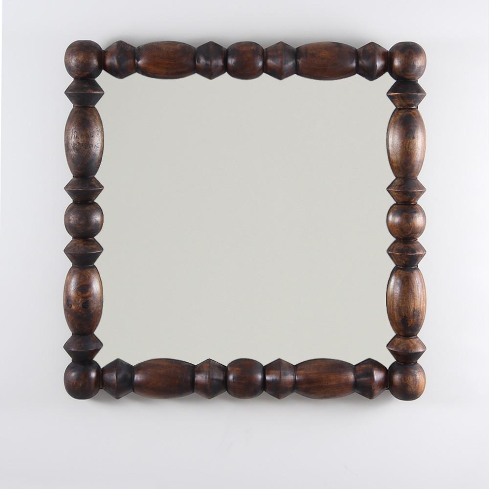 Montserrat Mirror 36 x 36 x 2.5 D inches Dark Walnut Finish