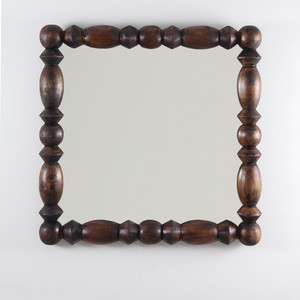 Montserrat Mirror 36 x 36 x 2.5 D inches Dark Walnut Finish