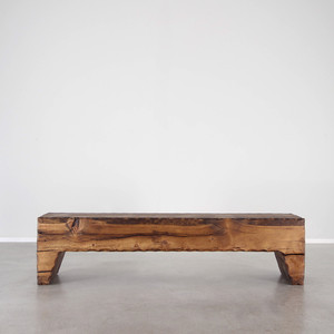 Taos Wood Bench 14 x 72 x 18 H inches Honey Brown Finish Oiled Topcoat