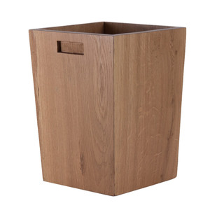 Los Robles Oak Waste Bin 10 x 10 x 14 H inches Natural