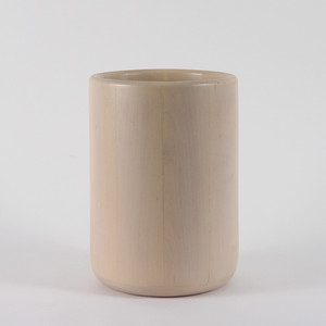 D'Avila Maple Waste Bin 10 diameter x  14 H inches Maple