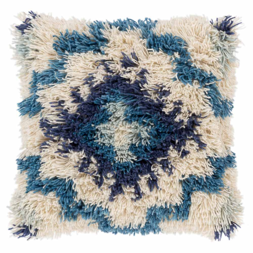 Santiago Shag Pillow - AGD-001 20 x 20 inches Wool, Cotton