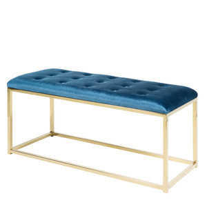 Donatella Bench - RIG-001/002 39 x 16 x 19 H inches Blue, Gold