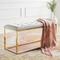 Donatella Bench - RIG-001/002 39 x 16 x 19 H inches White, Gold
