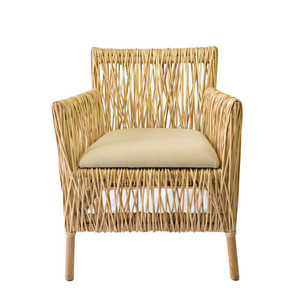 Hatch Dining Chair 26 x 24.75 x 31 H inches Rattan, Cotton