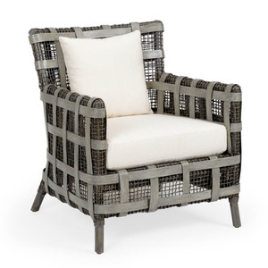 Carlos Lounge Chair 29.5 x 32 x 34 H inches Rattan, Cotton
