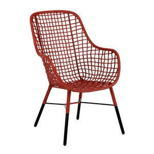 Ellie Chair Size: 26 x 26 x 40 H inches, 17 inch seat Rattan, Steel