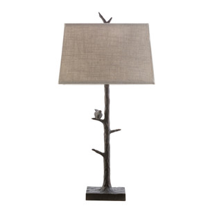 Birdsong Table Lamp - WBR-259 16 x 9 x 32 H inches Cast Resin, Polyester