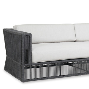 Milano Outdoor Sofa 91 x 35 x 28 H inches, 18 inch seat height Powder Coated Aluminum, Acrylic, Canvas