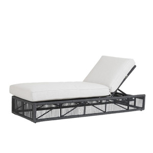 Milano Outdoor Chaise Lounge 30 x 78 x 12 H inches Powder Coated Aluminum, Acrylic, Canvas Charcoal Grey