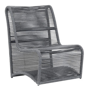 Milano Armless Chair 30 x 28 x 37 H inches, 18 inch seat height Powder Coated Aluminum, Acrylic Slate