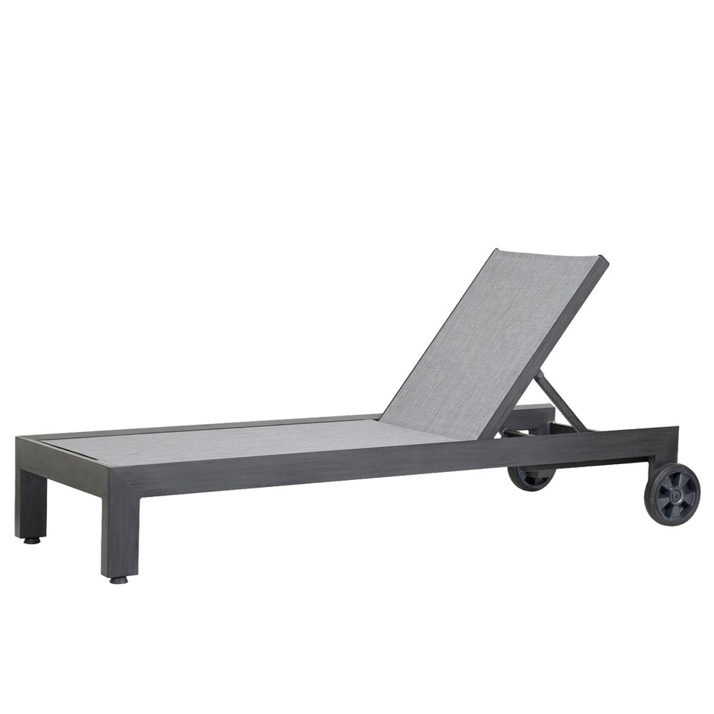 Redondo Chaise Lounge 28 x 79 x 12 H inches Powder Coated Aluminum, Canvas