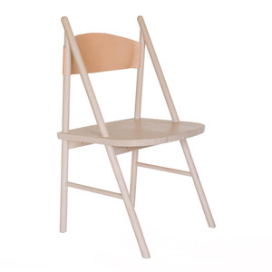Cress Side Chair 21 x 20 x  36 H inches Nude Oak, Natural Leather