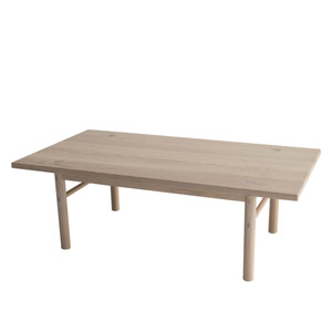 Yuba Coffee Table 42 x 22 x 14 H inches Solid White Oak  Nude Finish