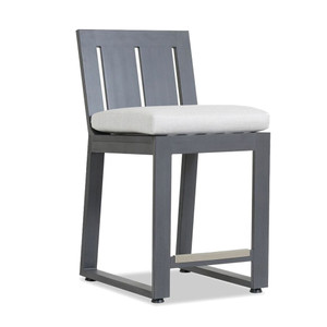Redondo Outdoor Bar Stool 20 x 24 x 41 H inches, 26 inch seat height Powder Coated Aluminum, Canvas