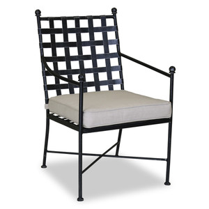 Provence Outdoor Dining Chair 24 x 26 x 36 H inches, 26 inch seat height Iron, Canvas