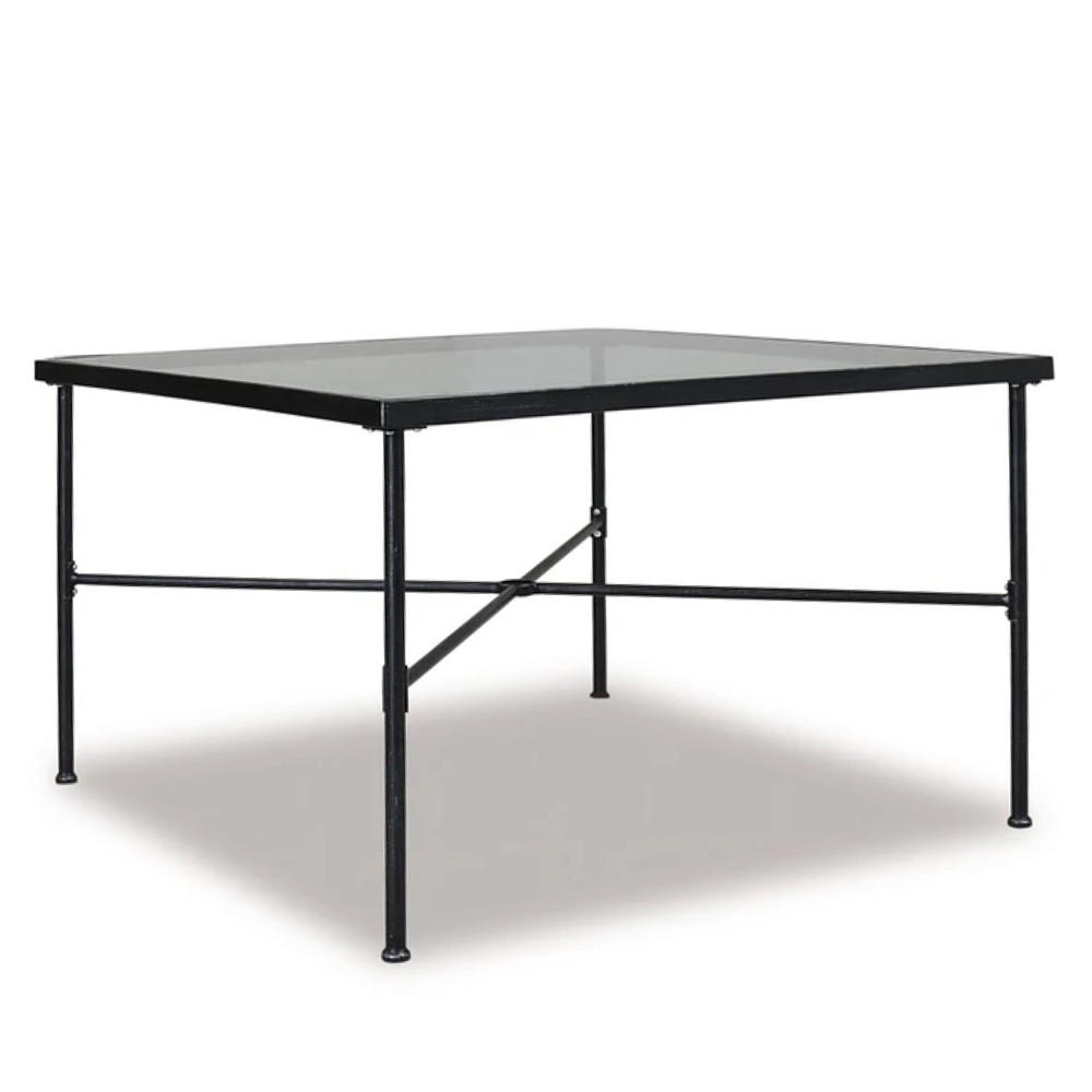 Provence Dining Table 44 x 44 x 29 H inches Iron, Glass