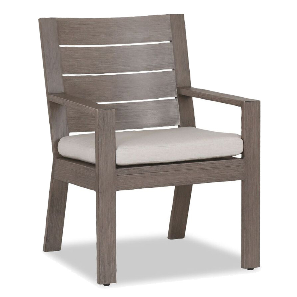 Laguna Dining Chair 25 x 25 x 37 H inches, 20.5 inch seat height Aluminum, Canvas