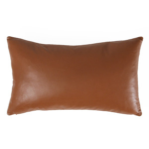 British Tan Leather Pillow 12 x 20  inches
