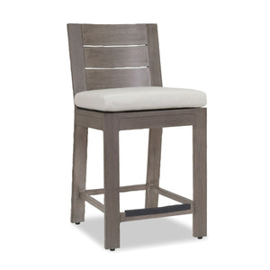 Laguna Outdoor Counter Stool 20 x 23 x 40 H inches, 25 inch seat height Aluminum, Canvas