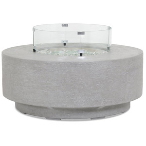 Ventura Round Fire Table 41 dia x 18 H inches Glass Fiber Reinforced Concrete