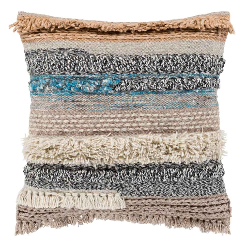 Coronado Beachy Pillow - GZA-001 18 x 18 inches Wool, Cotton