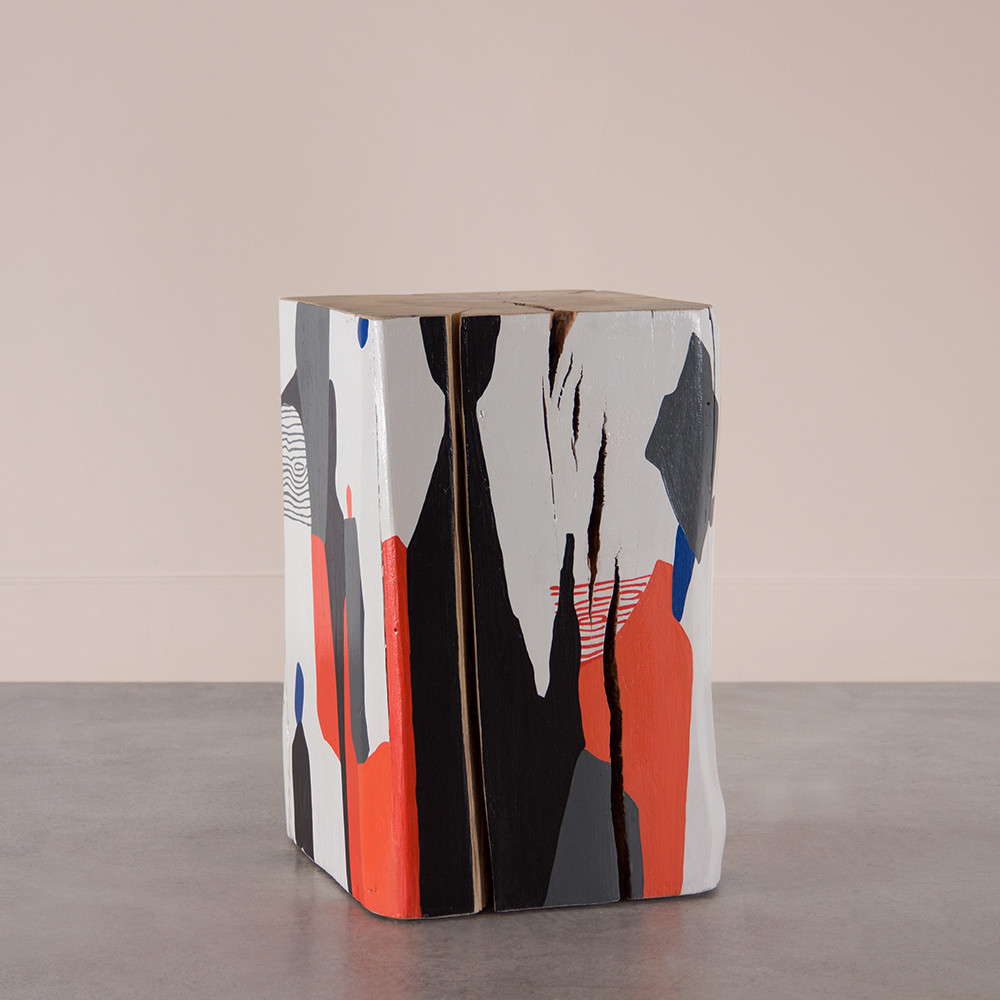 Abstract Art Cube Table Pfeifer Studio - The-beautiful-dot-and-cube-collections