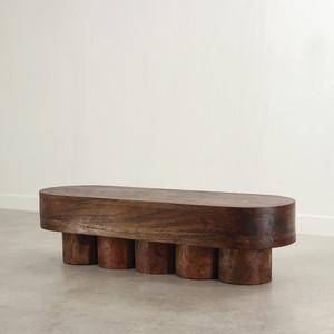 Colonnade Bench Table 21.5 x 66 x 18 H inches Dark Walnut Finish