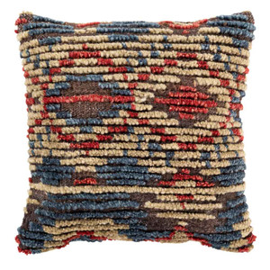 Tichka Pillow - TCK-001 20 x 20 inches Jute, Wool