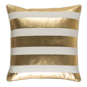 Rayas Pillow - GLYP-7080 18 x 18 inches Cotton Gold