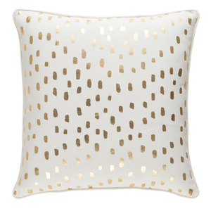Glyph Dotted Pillow 18 x 18 inches Cotton Gold
