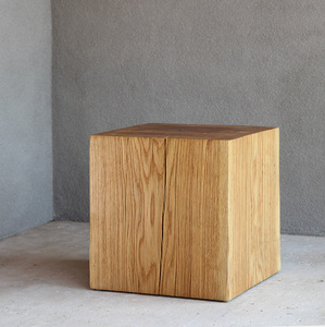 Putnam Oak Cube Table 18 x 18 x 18 H inches Oiled Finish