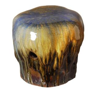 Piedra Garden Seat 14 x 16 x 13.5 H inches Ceramic