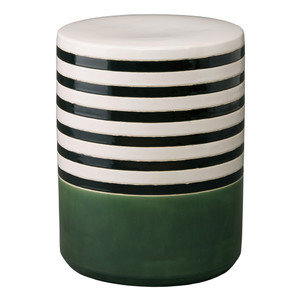 Banda Garden Stool 14 x 18 H inches Ceramic Bay Green