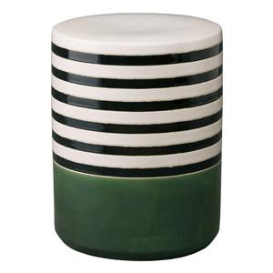 Banda Garden Stool 14 x 18 H inches Ceramic Bay Green
