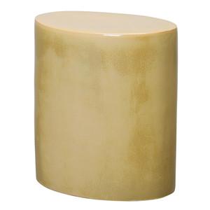Maria Ceramic Side Table 17 x 11.5 x 18 H inches Ceramic Desert