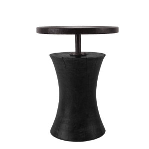 Burke Side Table 15 dia x 20 H inches Ebony Finish Sealed Topcoat