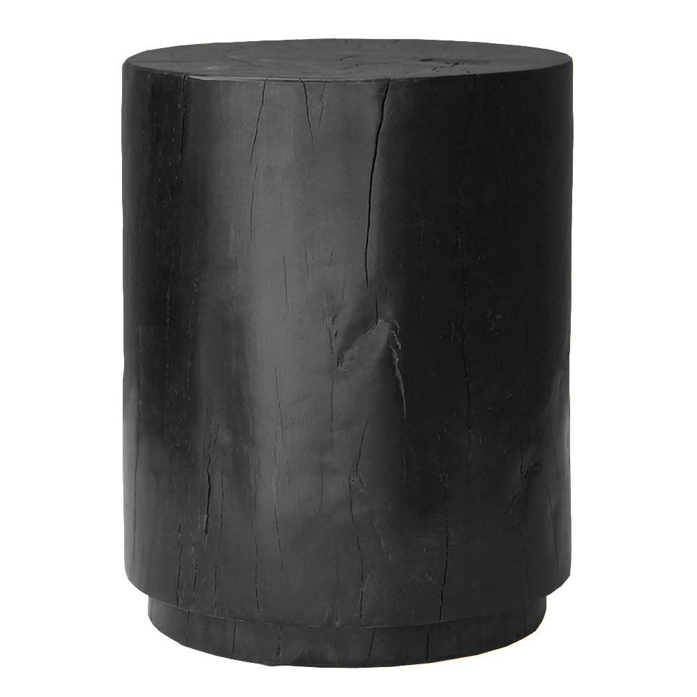 Minimo Stool Table 16 dia x 20 H inches Ebony Finish